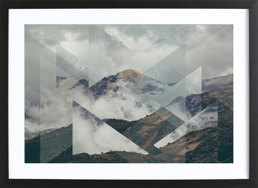 Scattered 2 Nevado del Ruiz -Bild mit Holzrahmen