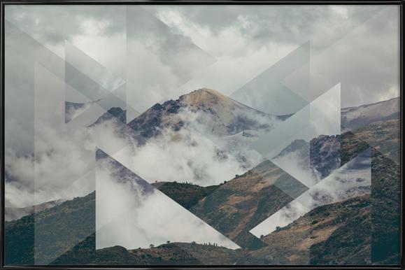 Scattered 2 Nevado del Ruiz -Bild mit Kunststoffrahmen