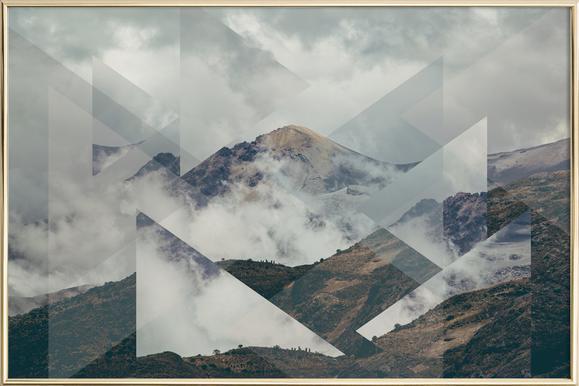 Scattered 2 Nevado del Ruiz Poster in Aluminium Frame