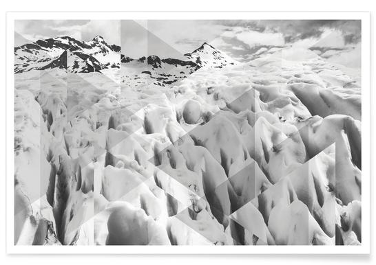 Perito Moreno BW Photograph Poster