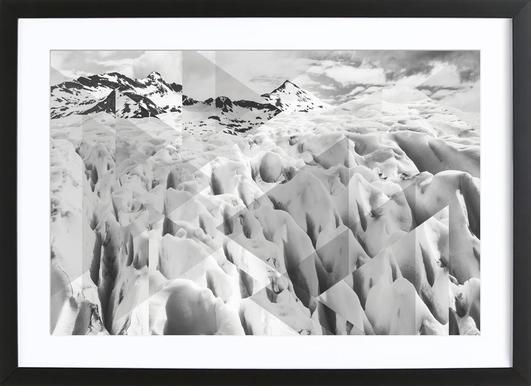 Scattered 2 Perito Moreno BW -Bild mit Holzrahmen