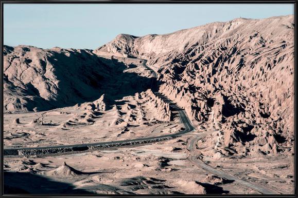 Raw 1 Valle de la Luna Chile Framed Poster