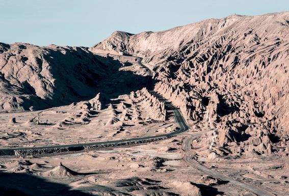 Raw 1 Valle de la Luna Chile Aluminium Print