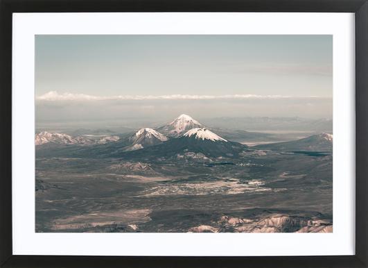 Raw 2 Andes Chile -Bild mit Holzrahmen