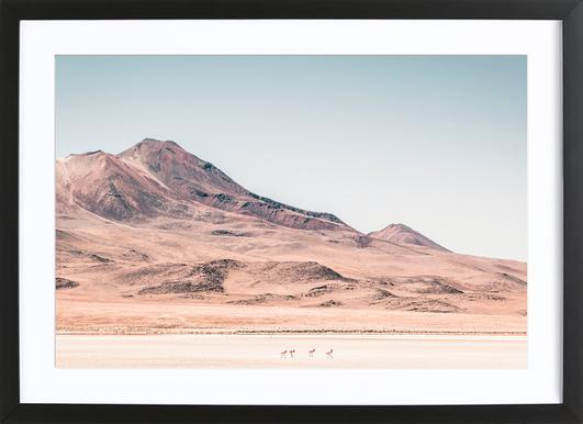Raw 2 Salar de Uyuni Bolivia. Framed Print