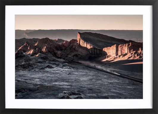 Raw 2 Valle de la Luna Chile.ork -Bild mit Holzrahmen