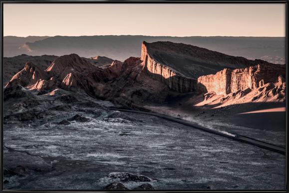 Raw 2 Valle de la Luna Chile.ork affiche encadrée