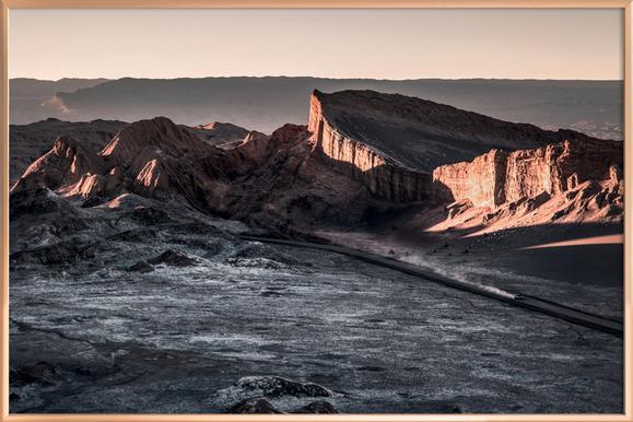 Raw 2 Valle de la Luna Chile.ork Poster in Aluminium Frame