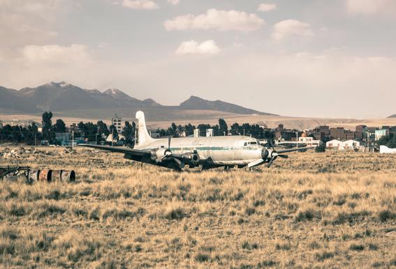 Raw 3 Airport Bolivia Aluminium Print