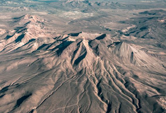 Raw 3 Andes Chile Aluminium Print