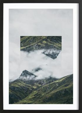 Mirrored 1 Andes Framed Print