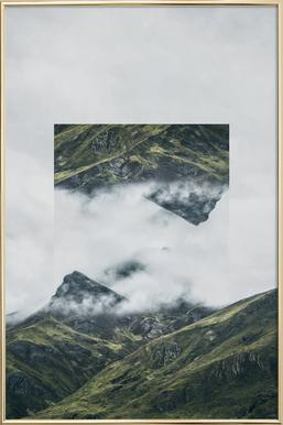 Mirrored 1 Andes Poster in Aluminium Frame