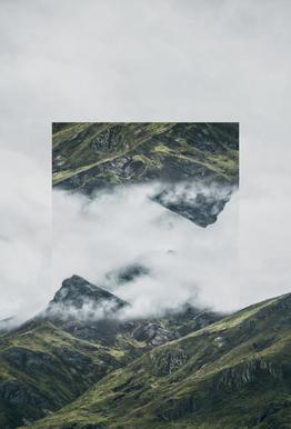 Mirrored 1 Andes Aluminium Print