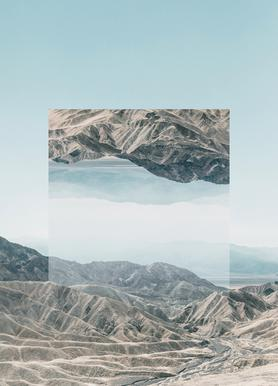 Mirrored 1 Death Valley Canvas Print