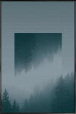 Mirrored 1 Forest Framed Poster