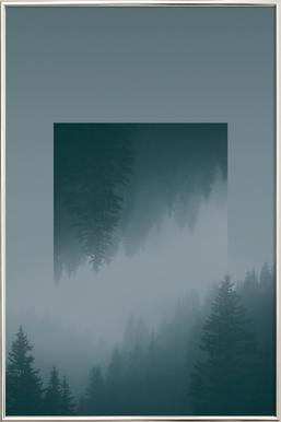 Mirrored 1 Forest Poster in Aluminium Frame