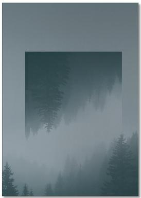 Mirrored 1 Forest Notepad