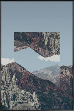 Mirrored 2 Chacaltaya Framed Poster