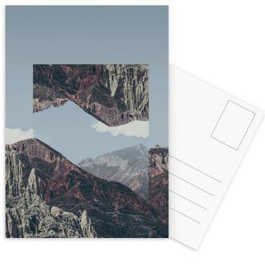 Mirrored 2 Chacaltaya Postcard Set