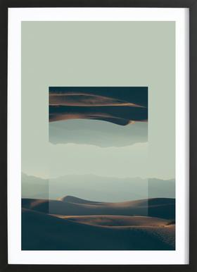 Mirrored 2 Death Valley Framed Print