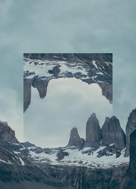 Mirrored 2 Torres del Paine Canvas Print