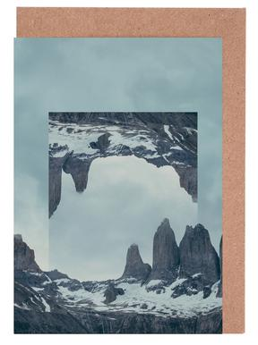 Mirrored 2 Torres del Paine Greeting Card Set
