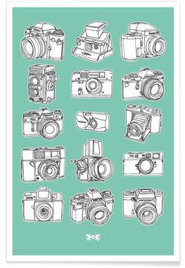 Camera Mint Poster