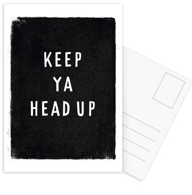 Keep ya head up -Postkartenset