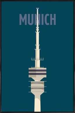 Munich - Poster in kunststof lijst