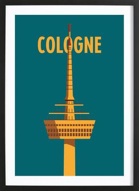 Cologne - Poster in Wooden Frame