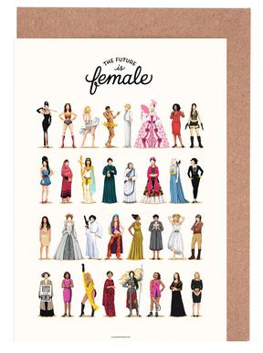 The Future Is Female Greeting Card Set