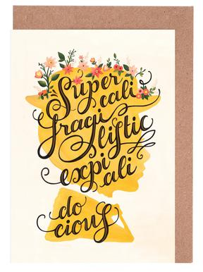 Supercalifragilisticexpialidocious - Draw Me A Song Project Greeting Card Set