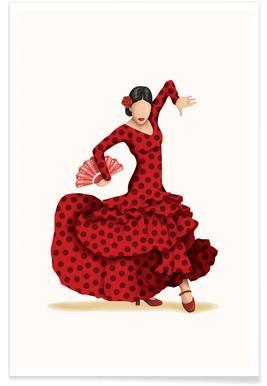 Flamenco dans poster