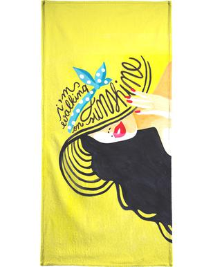 Walking on Sunshine - Draw Me A Song Beach Towel