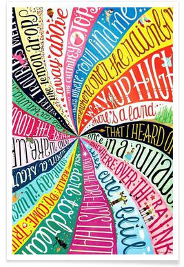 Over the Rainbow songtekst poster