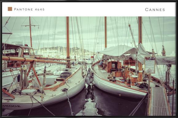 Cannes 4645 affiche encadrée