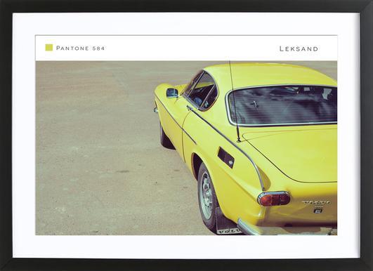 Leksand 584 affiche sous cadre en bois