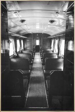 Ghost Train Poster in Aluminium Frame
