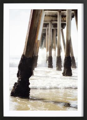 Hermosa Pier Framed Print
