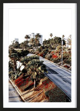 Santa Monica Red Framed Print