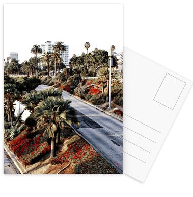 Santa Monica Red Postcard Set