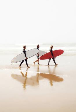 Surf Triple 2 Aluminium Print