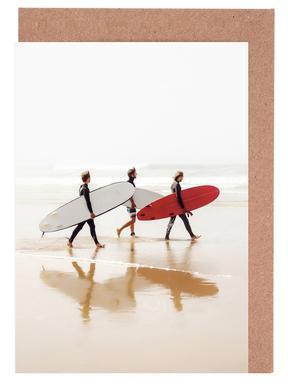 Surf Triple 2 Greeting Card Set