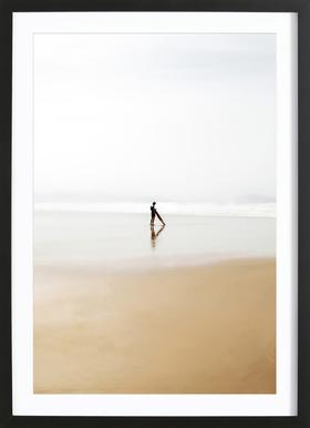 The Lone Surfer Framed Print