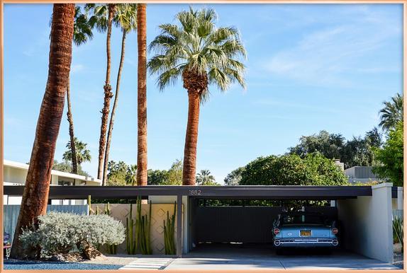 The Palm Springs Dream Poster in Aluminium Frame