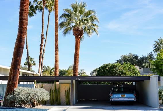 The Palm Springs Dream Aluminium Print