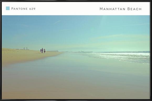 Manhattan Beach Pantone 629 ingelijste poster