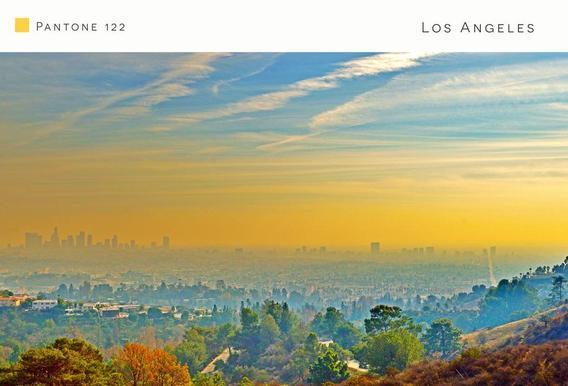 Los Angeles Pantone 122 Acrylic Print