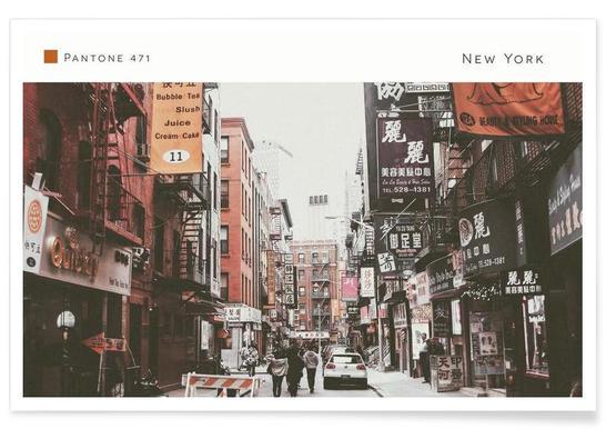 New York Pantone 471 - Premium poster