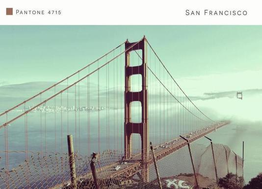 San Francisco Pantone 4715